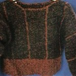 Chenille Stripes Sweater and Skirt Free Crochet Pattern