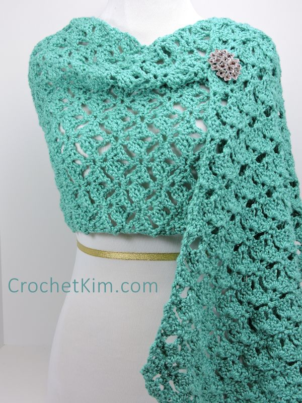 Free Crochet Pattern: Emerald Lace Wrap
