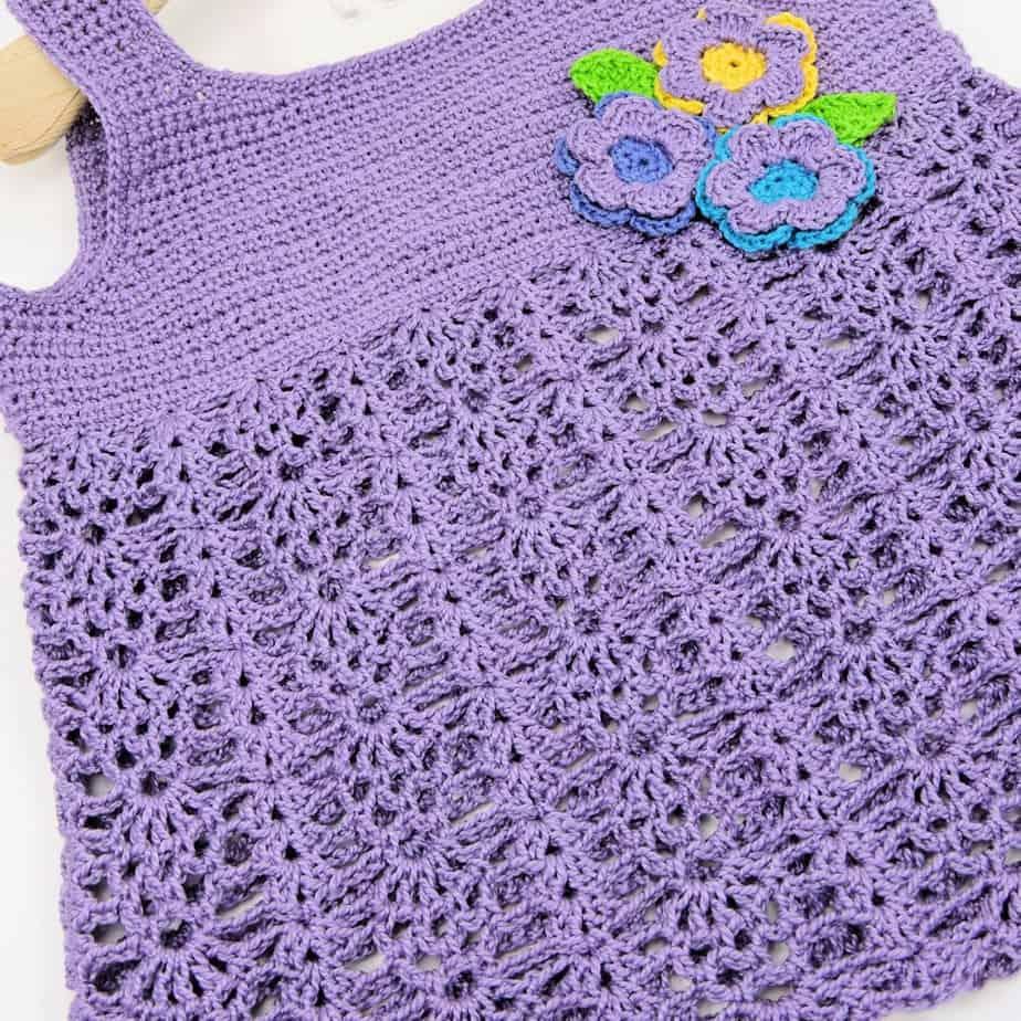 Bouquet Baby Top CrochetKim Free Crochet Pattern