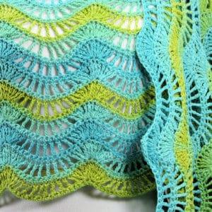 Malibu Fling Wrap | CrochetKim Free Crochet Pattern