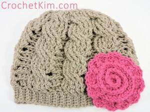 CrochetKim Free Crochet Pattern: Twisty Cabled Beanie