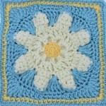 Logo Flower Square Free Crochet Pattern