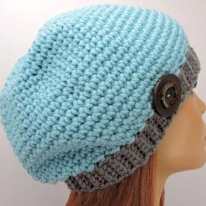Easy Basic Slouchie Beanie Beginner Free Crochet Pattern