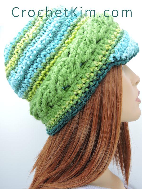 CrochetKim Free Crochet Pattern | Braided Brim Beanie Hat @crochetkim