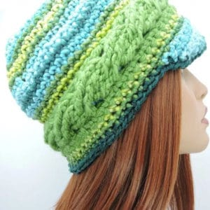 Braided Brim Beanie Free Crochet Pattern