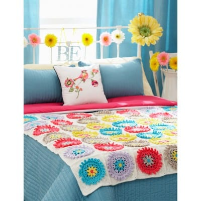Free Crochet Pattern: Colorful Cogs Afghan