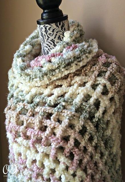 Free Crochet Pattern: Gentle Solace Prayer Shawl