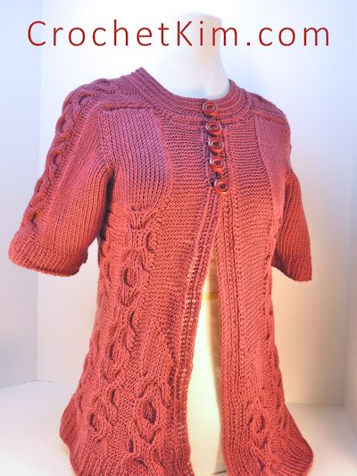 CrochetKim Free Crochet Pattern | Hugs and Kisses Tunisian Crochet Jacket