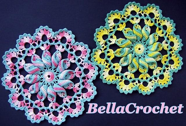 Free Crochet Pattern: Pretty Pinwheel Doily