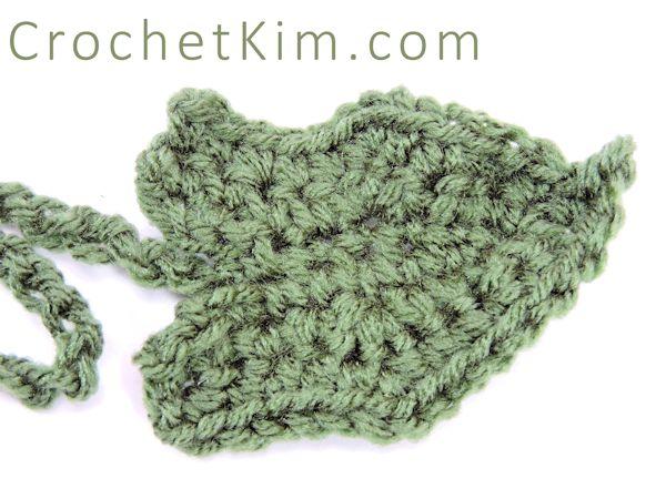 CrochetKim Free Crochet Pattern | Pumpkin Leaf  @crochetkim