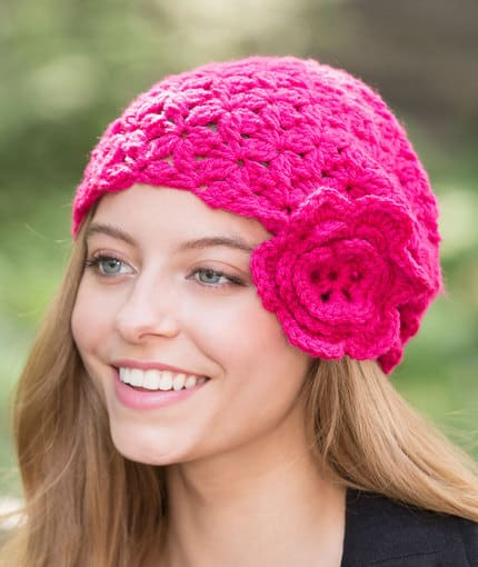 Free Crochet Pattern: Flower Cloche