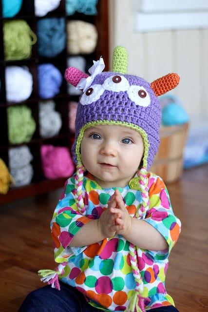 Free Crochet Pattern: Little Monster Hat