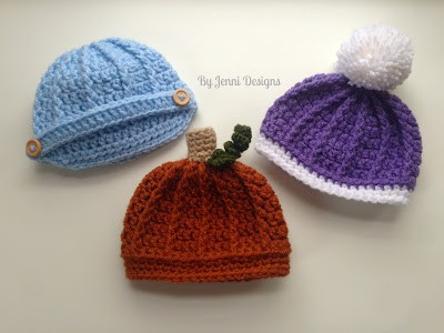 Free Crochet Pattern: Newborn Ribbed Beanie