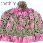 Chocolate Strawberries Beanie Free Crochet Pattern