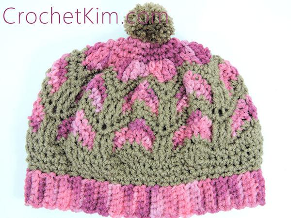 CrochetKim Free Crochet Pattern   Chocolate Strawberries Beanie Hat @crochetkim