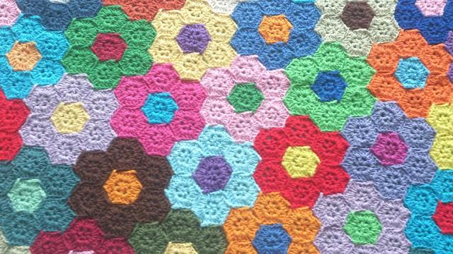 Flower Quilt Blanket Free Crochet Pattern Crochetkim
