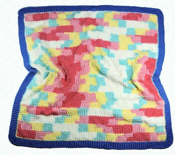 CrochetKim Free Crochet Pattern | Patchwork Baby Blanket @crochetkim