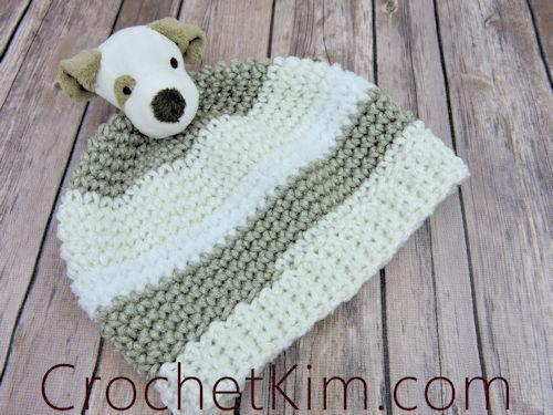 CrochetKim Free Crochet Pattern   Puppy Topper Beanie @crochetkim