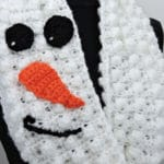 Snowman Infinity Scarf CrochetKim Free Crochet Pattern