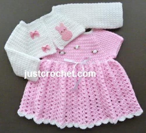 Baby Dress And Bolero Free Crochet Pattern Crochetkim