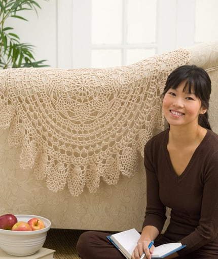 Free Crochet Pattern: Lace Accent Doily