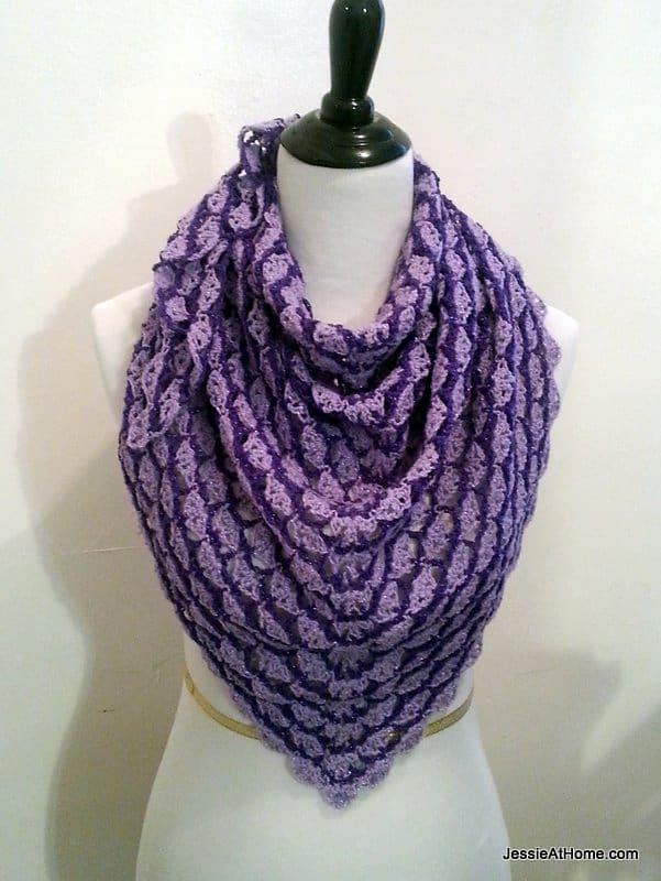 Lavender Blooms Shawl Free Crochet Pattern Crochetkim