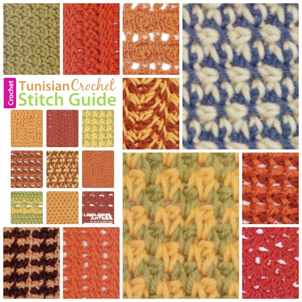 Tunisian Crochet Stitch Guide Collage