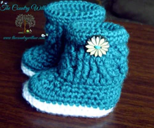Free Crochet Pattern: Charlotte Marie Booties