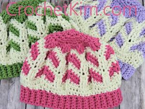 Free Crochet Pattern: Chocolate Strawberries Beanie