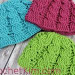 Newborn Cable Beanie | CrochetKim Free Crochet Pattern
