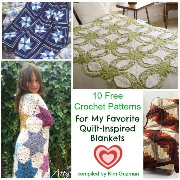 Link Blast: 10 Free Crochet Patterns for Quilt-Inspired Blankets