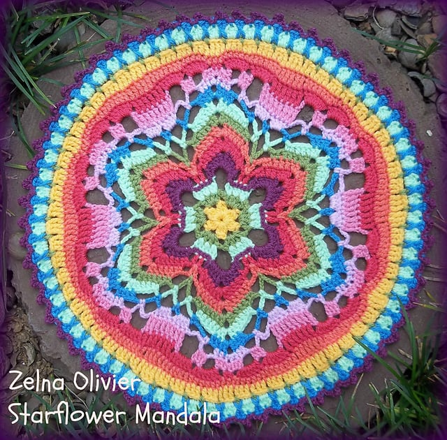 Free Crochet Pattern: Starflower Mandala