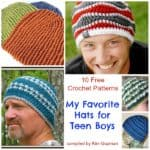 Roundup: Free Crochet Patterns for Hats for Teen Boys