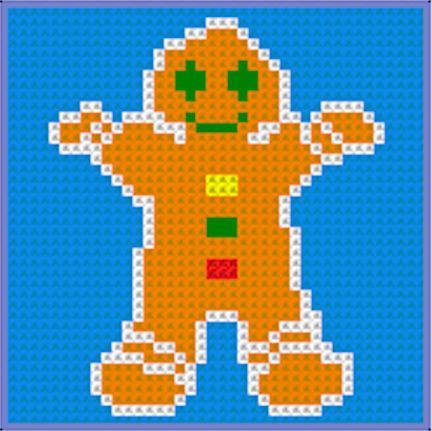 CrochetKim Free Crochet Pattern | Chart: Gingerbread Man @crochetkim