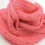 Pink Fantasy Infinity Scarf Free Tunisian Crochet Pattern
