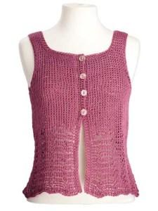 CrochetKim Free Crochet Pattern   Elisa Sleeveless Top