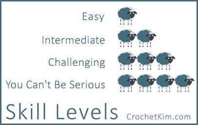CrochetKim.com Pattern Skill Levels
