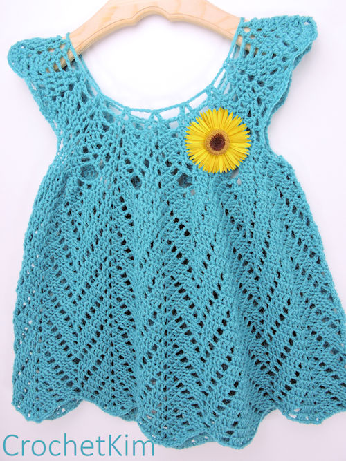 CrochetKim Tulip Chevrons Baby Dress