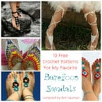 Roundup: 10 Free Crochet Patterns for Barefoot Sandals