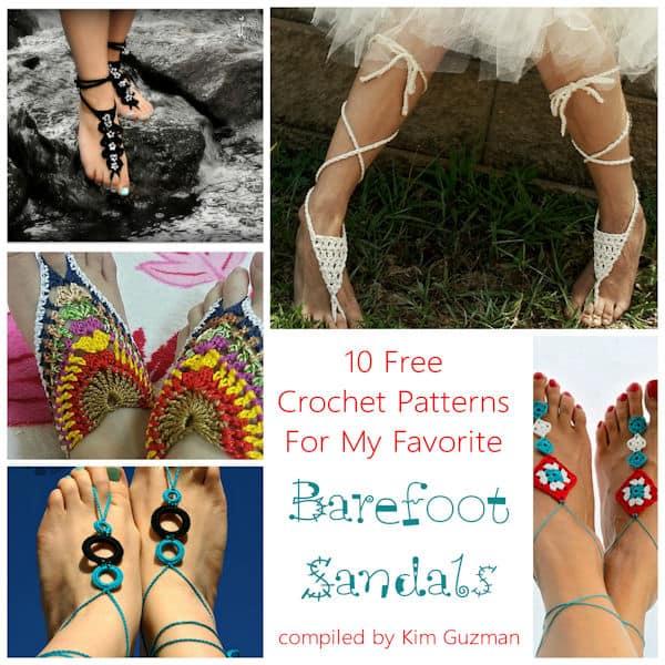 Link Blast: 10 Free Crochet Patterns for Barefoot Sandals