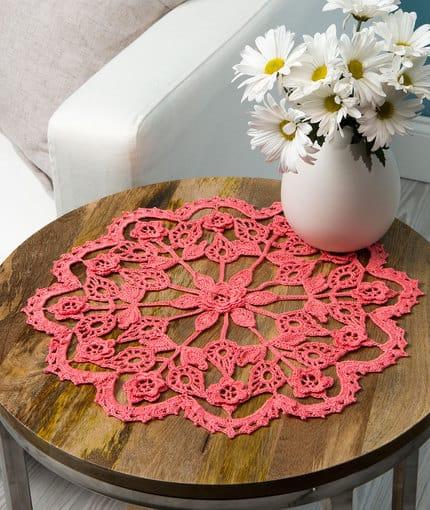 Free Crochet Pattern: Exquisite Flower Doily