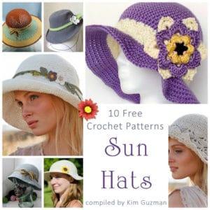 Link Blast: 10 Free Crochet Patterns for Sun Hats