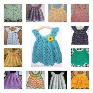 CrochetKim Tulip Chevrons Baby Dress Going Viral