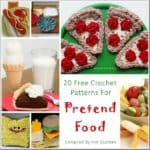 Roundup: 20 Free Crochet Patterns for Pretend Play Food