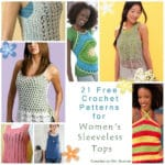Roundup: 21 Free Crochet Patterns for Womens Sleeveless Tank Tops