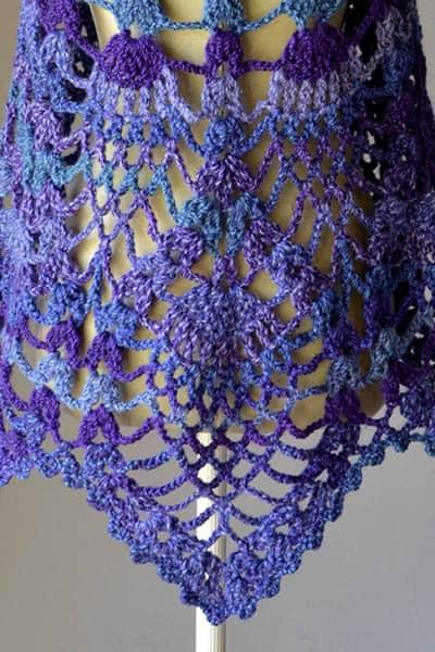 Peacock Shawl Free Crochet Pattern Crochetkim