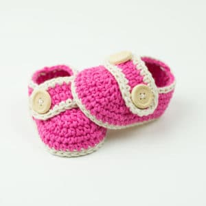 Free Crochet Pattern: Pretty In Pink Baby Booties