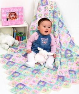 Free Crochet Pattern: Rainbow Swirl Baby Blanket