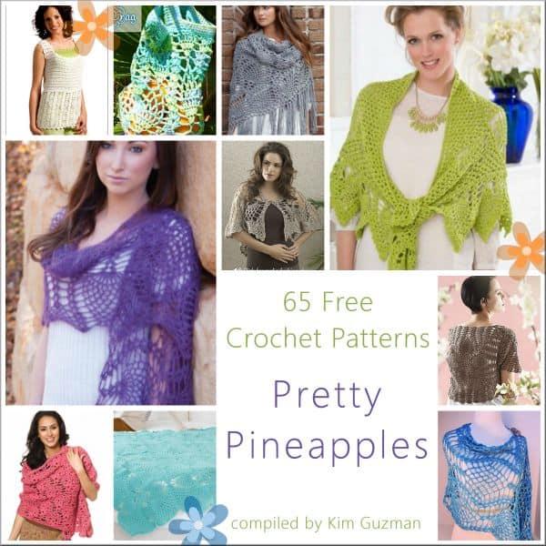 Contemporary Crochet Shawl Pineapple Pattern Adornment Knitting