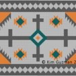 Colorwork Chart: Navajo Blanket 1 | Crochet, Tunisian Crochet, C2C